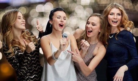Girls Night Our Karaoke Singing