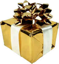 Gift Wrapped in Gold Foil for Holiday Parties
