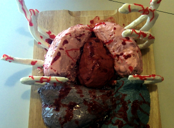 Rib Cage Halloween Party Cake