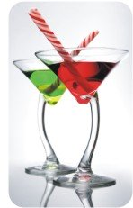 Green and Red Christmas Martinis