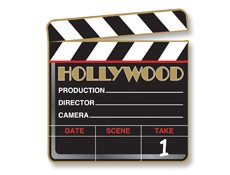 Hollywood Theme Bat Mitzvah Clapboard