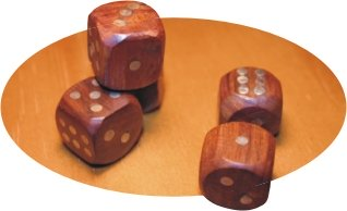 brown wooden dice