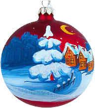 Christmas snow scene ornament