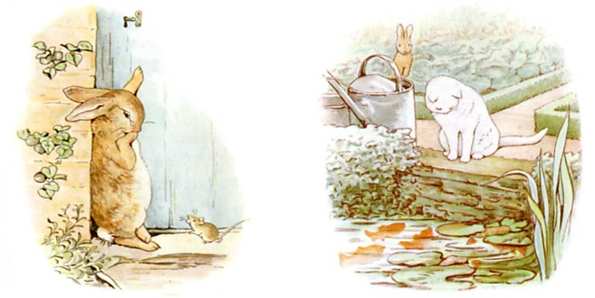 Peter Rabbit Gets No Help from a Cat and a Mouse
