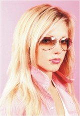 girl in pink tinted sunglasses
