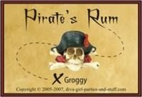 label for pirate's rum