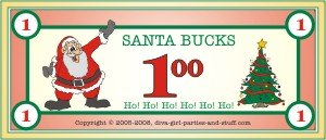 printable Santa bucks