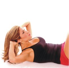 exercise model doing crunches