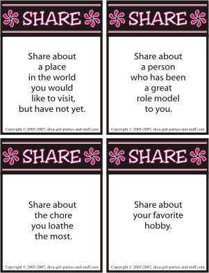 conversation icebreaker cards
