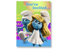 Smurf Party Invitations