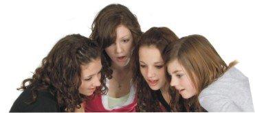 teen girls gossiping