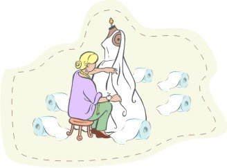 Toilet Paper Wedding Gown Designer
