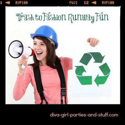 Recycled Fashion Runway Fun